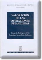 Portada de VALORACIÓN DE LAS OPERACIONES FINANCIERAS