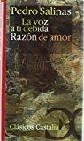 Portada de LA VOZ A TI DEBIDA ; RAZON DE AMOR