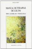 Portada de MANUAL DE TERAPIAS DE GRUPO: TIPOS, MODELOS Y PROGRAMAS