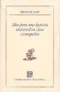 Portada de IDEA PARA UNA HISTORIA UNIVERSAL EN CLAVE COSMOPOLITA