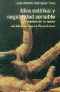 Portada de IDEA ESTETICA Y NEGATIVIDAD SENSIBLE: LA FEALDAD EN LA TEORIA ESTETICA DE KANT A ROSENKRATZ