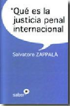 Portada de QUÉ ES LA JUSTICIA PENAL INTERNACIONAL