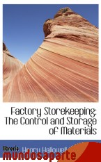Portada de FACTORY STOREKEEPING: THE CONTROL AND STORAGE OF MATERIALS