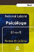 Portada de PSICOLOGO DE LA XUNTA DE GALICIA: TEST