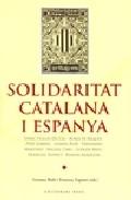 Portada de SOLIDARITAT CATALANA I ESPANYA