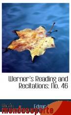 Portada de WERNER S READING AND RECITATIONS: NO. 46