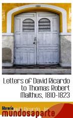 Portada de LETTERS OF DAVID RICARDO TO THOMAS ROBERT MALTHUS, 1810-1823