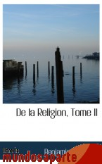 Portada de DE LA RELIGION, TOME II