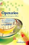 Portada de OPERARIOS  DE LA DIPUTACION PROVI NCIAL DE CACERES. TEMARIO Y TEST