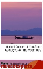 Portada de ANNUAL REPORT OF THE STATE GEOLOGIST FOR THE YEAR 1899