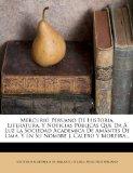 Portada de MERCURIO PERUANO DE HISTORIA, LITERATURA