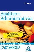 Portada de TEMARIO AUXILIARES ADMINISTRATIVOS DE LA UNIVERSIDAD POLITECNICA DE CARTAGENA