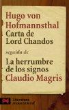 Portada de CARTA DE LORD CHANDOS; LA HERRUMBRE DE LOS SIGNOS
