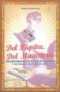 Portada de DEL PUPITRE. DEL MAGISTERIO. UNA APROXIMACION A LA HISTORIA DE LAPROFESION