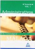 Portada de ADMINISTRATIVOS DE LA UNIVERSIDAD DE MALAGA TEMARIO: VOLUMEN I