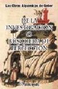 Portada de DE LA INVESTIGACION O BUSQUEDA DE LA PERFECCION