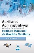 Portada de AUXILIARES ADMINISTRATIVOS DE CENTROS DEPENDIENTES DE INSTITUTO NACIONAL DE GESTION SANITARIA. TEST