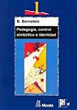 Portada de PEDAGOGIA, CONTROL SIMBOLICO E IDENTIDAD