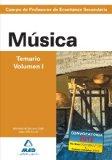 Portada de CUERPO DE PROFESORES DE ENSEÑANZA SECUNDARIA: MUSICA: TEMARIO: VOLUMEN I