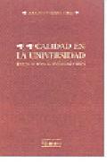 Portada de CALIDAD EN LA UNIVERSIDAD: EVALUACION E INDICADORES