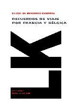 Portada de RECUERDOS DE VIAJE POR FRANCIA Y BÉLGICA EN 1840-1841 (EBOOK)