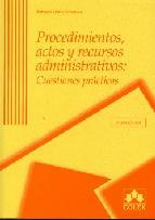 Portada de PROCEDIMIENTOS, ACTOS Y RECURSOS ADMINISTRATIVOS