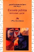 Portada de ESCUELA PUBLICA: DEMOCRACIA Y PODER