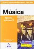 Portada de CUERPO DE PROFESORES DE ENSEÑANZA SECUNDARIA: MUSICA: TEMARIO: VOLUMEN II