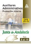 Portada de AUXILIARES ADMINISTRATIVOS DE LA JUNTA DE ANDALUCIA . TEST 8 AL 19