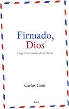 Portada de FIRMADO, DIOS