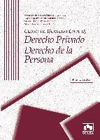 Portada de CURSO DE DERECHO CIVIL I: DERECHO PRIVADO. DERECHO DE LA PERSONA