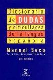 Portada de DICCIONARIO DE DUDAS Y DIFICULTADES DE LA LENGUA ESPAÑOLA