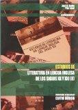 Portada de ESTUDIOS DE LITERATURA EN LENGUA INGLESA DE LOS SIGLOS XX Y XXI