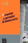 Portada de ENSEÑAR Y APRENDER LA DEMOCRACIA