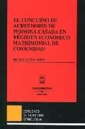 Portada de CONCURSO ACREEDORES PERSONA CASADA EN REGIMEN ECONOMICO MATRIMONIAL DE COMUNIDAD