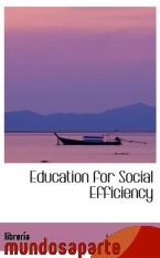 Portada de EDUCATION FOR SOCIAL EFFICIENCY