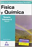 Portada de CUERPO DE PROFESORES DE ENSEÑANZA SECUNDARIA: FISICA Y QUIMICA: TEMARIO: VOLUMEN II: FISICA II