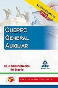 Portada de CUERPO AUXILIAR DE LA ADMINISTRACION DEL ESTADO. MANUAL DE WORD YEXCEL 2003