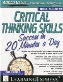 Portada de CRITICAL THINKING SKILLS SUCCESS IN 20 MINUTES A DAY