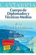 Portada de CUERPO DE DIPLOMADOS Y TECNICOS MEDIOS DE LA COMUNIDAD AUTONOMA DE CANTABRIA. TEMARIO COMUN VOLUMEN I