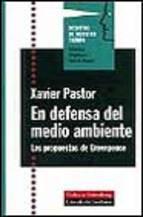 Portada de EN DEFENSA DEL MEDIO AMBIENTE: LAS PROPUESTAS DE GREENPEACE