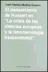 Portada de EL PENSAMIENTO DE HUSSERL EN LA CRISIS DE LAS CIENCIAS EUROPEAS YLA FENOMENOLOGIA TRASCENDENTAL