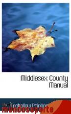 Portada de MIDDLESEX COUNTY MANUAL
