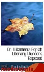 Portada de DR. WISEMAN`S POPISH LITERARY BLUNDERS EXPOSED