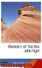 Portada de MEMOIRS OF THE REV. JOHN PYER