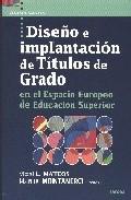 Portada de DISEÑO E IMPLANTACION DE TITULOS DE GRADO EN EL ESPACIO EUROPEO DE EDUCACION SUPERIOR