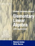 Portada de ELEMENTARY LINEAR ALGEBRA WITH APPLICATIONS: STUDENT SOLUTIONS MANUAL