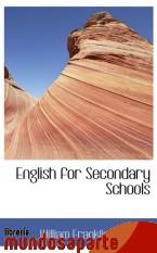 Portada de ENGLISH FOR SECONDARY SCHOOLS
