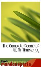 Portada de THE COMPLETE POEMS OF W. M. THACKERAY
