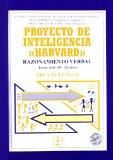 Portada de PROYECTO DE INTELIGENCIA HARVARD. AREA DE LENGUA: RAZONAMIENTO VERVAL, TERCER CICLO 10-12 AÑOS